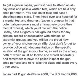 Progressive Gun Control Nonsense – Japan Comparison